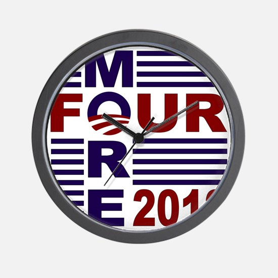 Four More 2012 Wall Clock
