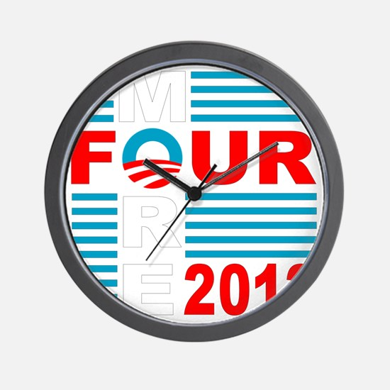 Four More 2012 dk Wall Clock