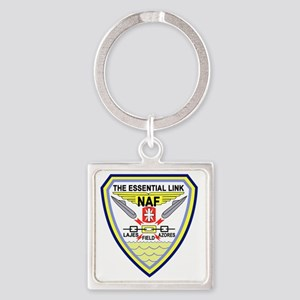 US NAVAL AIR LAJES AZORES Portugal Square Keychain