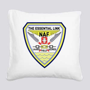 US NAVAL AIR LAJES AZORES Por Square Canvas Pillow