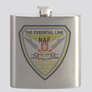 US NAVAL AIR LAJES AZORES Portugal Military  Flask