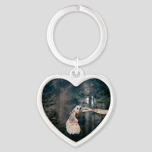 owl at midnight Heart Keychain