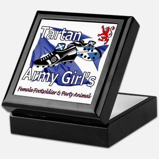 Tartan Army Girls Scotland Keepsake Box