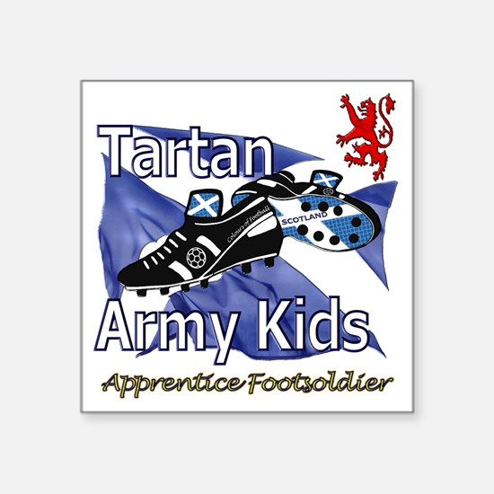 "Tartan Army Kids Scotland Square Sticker 3"" x 3"""