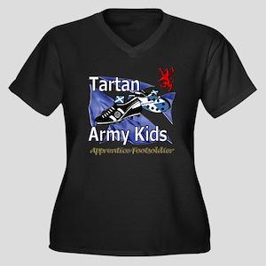 Tartan Army  Women's Plus Size Dark V-Neck T-Shirt