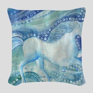 seahorse600 Woven Throw Pillow