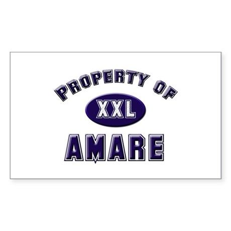 Property of amare Rectangle Sticker