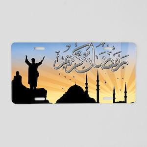 Ramadan Aluminum License Plate
