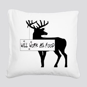 willworkasfood Square Canvas Pillow