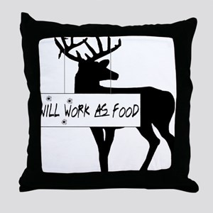 willworkasfood Throw Pillow