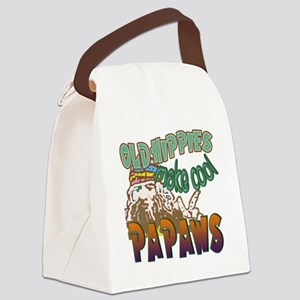 OLD HIPPIES MAKE COOL PAPAWS Canvas Lunch Bag