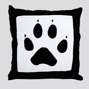 Wolf Paw Throw Pillow