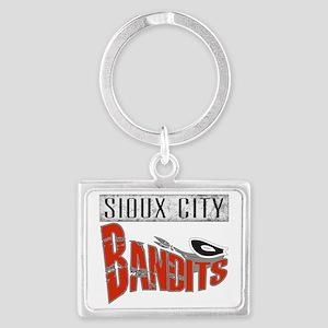 Sioux City Bandits Grunge Landscape Keychain