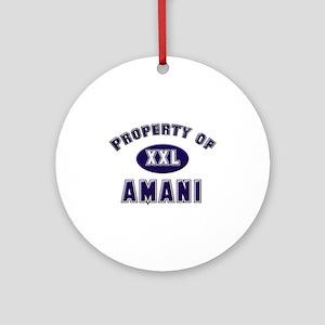 Property of amani Ornament (Round)