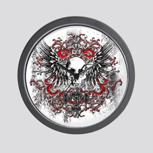 Skullz Wings Wall Clock