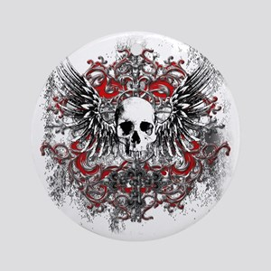 Skullz Wings Round Ornament