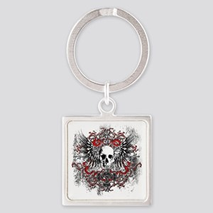 Skullz Wings Square Keychain