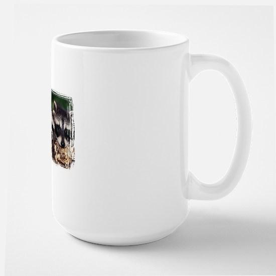 3 Raccoons Large Mug