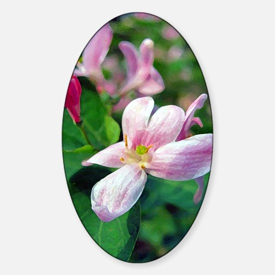 Floral Art Sticker (Oval)