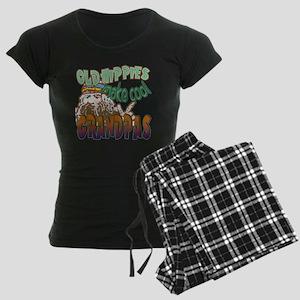 OLD HIPPIES MAKE COOL GRANDP Women's Dark Pajamas
