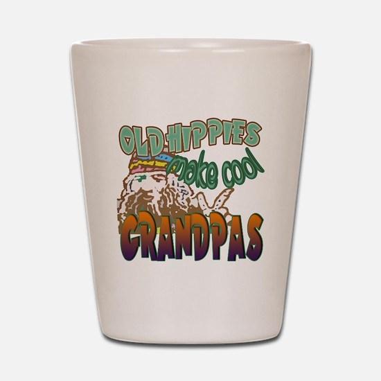 OLD HIPPIES MAKE COOL GRANDPAS Shot Glass