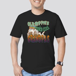OLD HIPPIES MAKE COOL  Men's Fitted T-Shirt (dark)