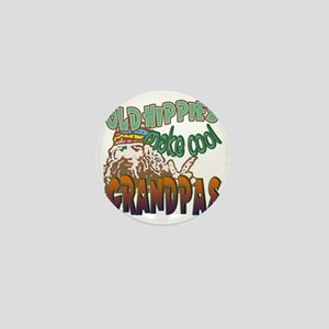 OLD HIPPIES MAKE COOL GRANDPAS Mini Button
