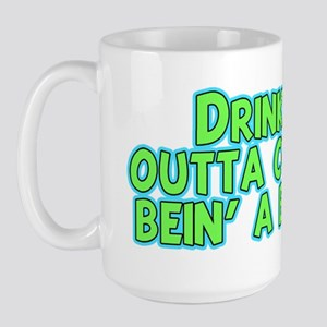 drinking-cups-dk Large Mug