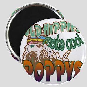 OLD HIPPIE POPPY Magnet