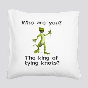 king-of-knots Square Canvas Pillow