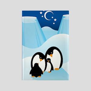 Penguin Family Rectangle Magnet