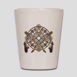 Turquoise Silver Dreamcatcher Shot Glass