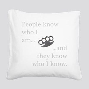 PeopleKnow Square Canvas Pillow