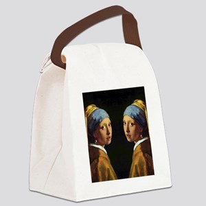 Pearl Earring FF Canvas Lunch Bag