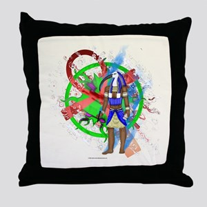 Thoth Tribal SunII Throw Pillow