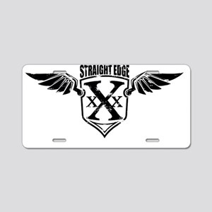 Straight Edge Aluminum License Plate