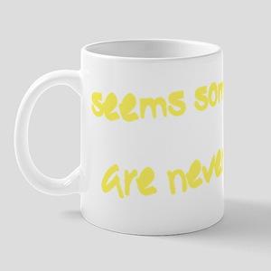 A lot of Broken Glass (back) yellow Mug