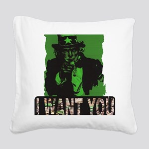 iwantyoutreestand Square Canvas Pillow