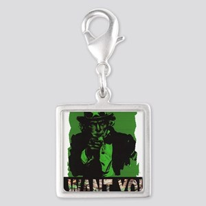 iwantyoutreestand Silver Square Charm