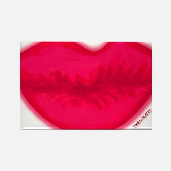 lipshotpink Rectangle Magnet