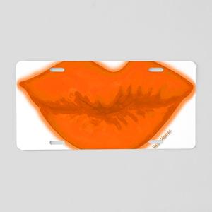 BigSLOPPYkissLipsONLY Aluminum License Plate