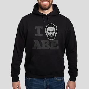 I-love-Abe-Grey Hoodie (dark)