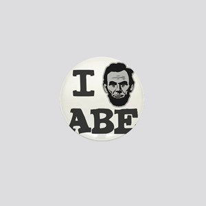 I-love-Abe-Grey Mini Button
