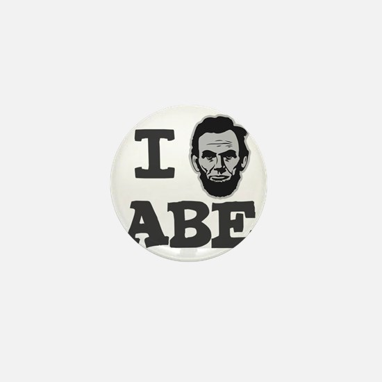 I-love-Abe-Grey Mini Button