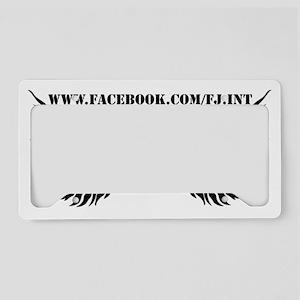 Apparrel Shoulders Template License Plate Holder