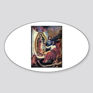 God the Father painting Guada Oval Sticker