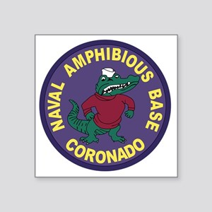 "US NAVAL AMPHIBIOUS BASE CO Square Sticker 3"" x 3"""