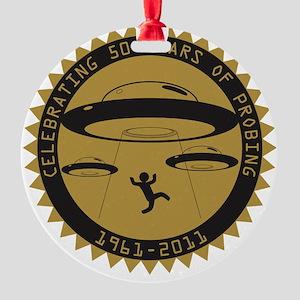 UFO - 50th Abduction Anniversary (E Round Ornament