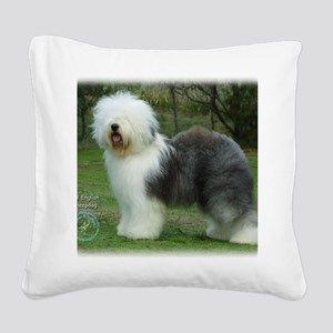 Old English Sheepdog 9F054D-1 Square Canvas Pillow