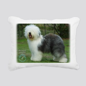 Old English Sheepdog 9F0 Rectangular Canvas Pillow